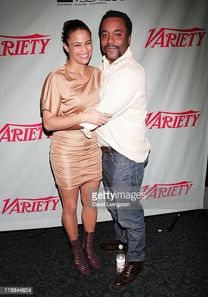 """Actress Paula Patton and director Lee Daniels attend the Variety screening of """"Precious"""" at ArcLight Cinemas on October 29, 2009 in Hollywood,..."""