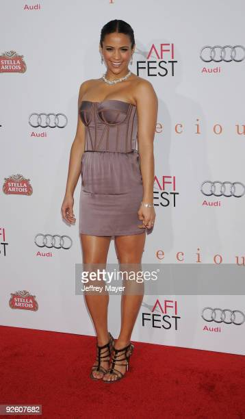 Actress Paula Patton arrives at AFI FEST 2009 Screening Of Precious Based On The Novel 'PUSH' By Sapphire on November 1 2009 in Hollywood California