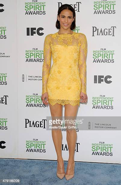 Actress Paula Patton arrives at the 2014 Film Independent Spirit Awards on March 1 2014 in Santa Monica California