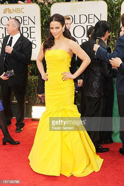 Actress Paula Patton arrives at the 69th Annual Golden Globe Awards held at the Beverly Hilton Hotel on January 15 2012 in Beverly Hills California