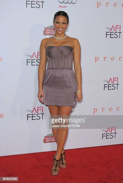 Actress Paula Patton arrives at the AFI FEST 2009 Screening Of Precious Based On The Novel 'PUSH' By Sapphire on November 1 2009 in Hollywood...