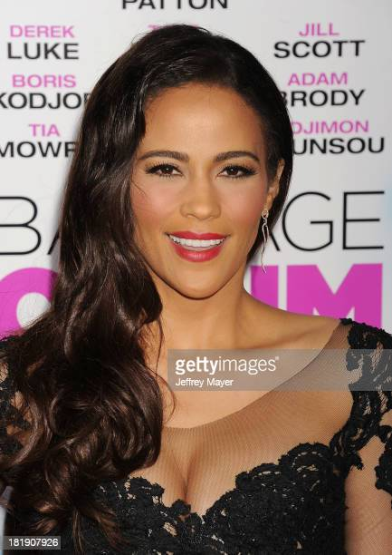 Actress Paula Patton arrives at the Los Angeles premiere of 'Baggage Claim' at Regal Cinemas LA Live on September 25 2013 in Los Angeles California