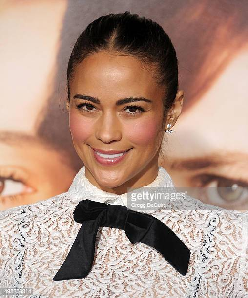 Actress Paula Patton arrives at the premiere of Focus Features' 'The Danish Girl' at Westwood Village Theatre on November 21 2015 in Westwood...