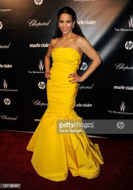 Actress Paula Patton arrives at The Weinstein Company's 2012 Golden Globe Awards After Party at The Beverly Hilton hotel on January 15 2012 in...