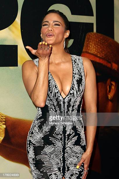 Actress Paula Patton attends 2 Guns New York Premiere at SVA Theater on July 29 2013 in New York City
