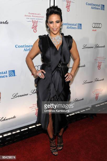 Actress Paula Patton attends 2009 Angel Ball to Benefit Gabrielle�s Angel Foundation hosted by Denise Rich at Cipriani Wall Street on October 20 2009...