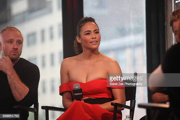 Actress Paula Patton attends AOL Build Speaker Series Warcraft at AOL Studios In New York on June 8 2016 in New York City