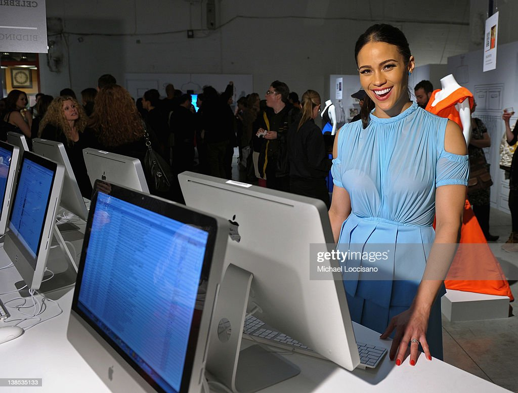 Actress Paula Patton attends eBay Celebrity and Brad Pitt's Make It Right Celebrate Pop-Up Gallery Exhibition at Chelsea Market on February 8, 2012 in New York City.