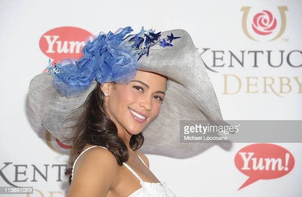 Actress Paula Patton attends the 137th Kentucky Derby at Churchill Downs on May 7 2011 in Louisville Kentucky