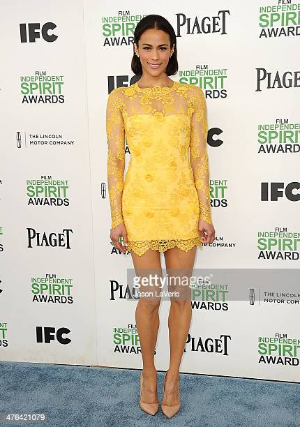 Actress Paula Patton attends the 2014 Film Independent Spirit Awards on March 1 2014 in Santa Monica California
