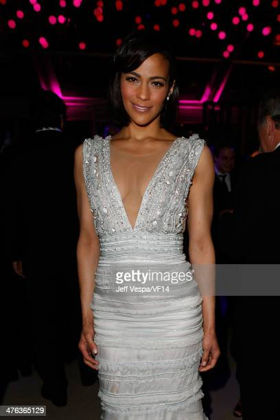 Actress Paula Patton attends the 2014 Vanity Fair Oscar Party Hosted By Graydon Carter on March 2 2014 in West Hollywood California