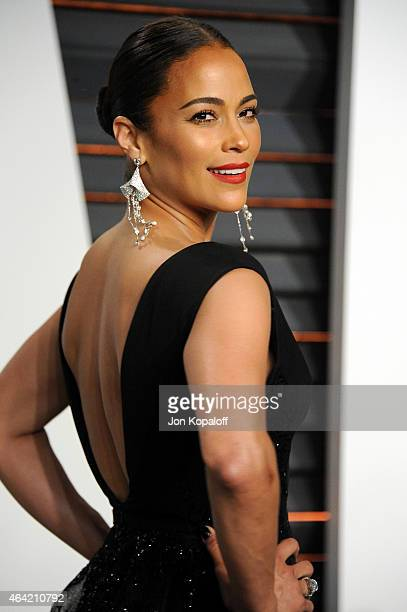 Actress Paula Patton attends the 2015 Vanity Fair Oscar Party hosted by Graydon Carter at Wallis Annenberg Center for the Performing Arts on February...