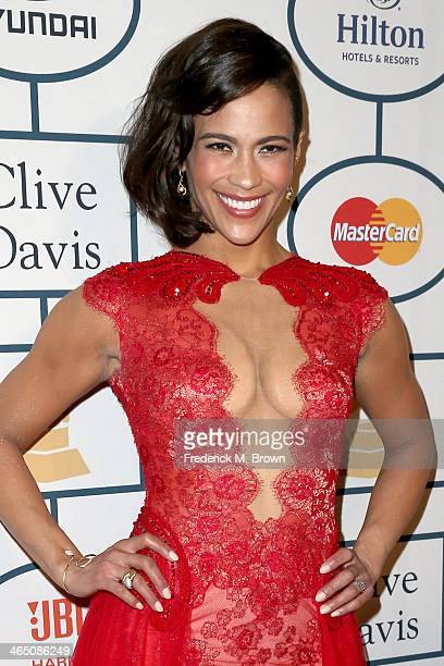 Actress Paula Patton attends the 56th annual GRAMMY Awards PreGRAMMY Gala and Salute to Industry Icons honoring Lucian Grainge at The Beverly Hilton...