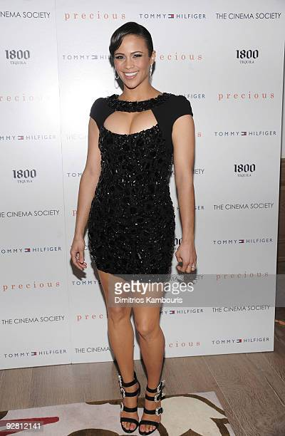 Actress Paula Patton attends The Cinema Society Tommy Hilfiger screening of 'Precious' at the Crosby Street Hotel on November 5 2009 in New York City