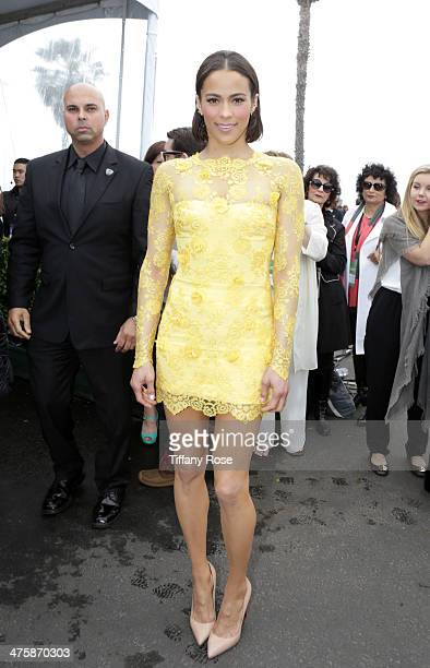 Actress Paula Patton attends the Patron Tequila Lounge during the 2014 Film Independent Spirit Awards at Santa Monica Beach on March 1 2014 in Santa...