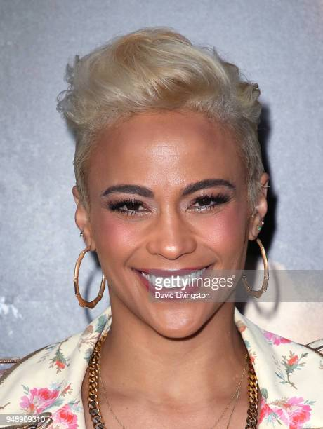 Actress Paula Patton attends the premiere of Codeblack Films' Traffik at ArcLight Hollywood on April 19 2018 in Hollywood California