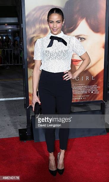 Actress Paula Patton attends the premiere of Focus Features' The Danish Girl at the Regency Village Theatre on November 21 2015 in Westwood California