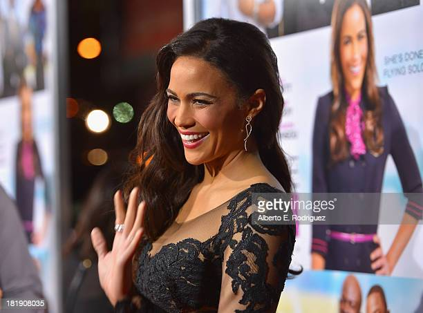 Actress Paula Patton attends the premiere of Fox Searchlight Pictures' Baggage Claim at Regal Cinemas LA Live on September 25 2013 in Los Angeles...