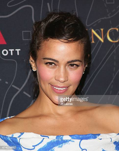 Actress Paula Patton attends the premiere of 'French Kiss' at Marina del Rey Marriott on May 19 2015 in Marina del Rey California