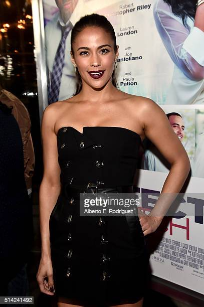 Actress Paula Patton attends the premiere of Lionsgate's The Perfect Match at ArcLight Hollywood on March 7 2016 in Hollywood California