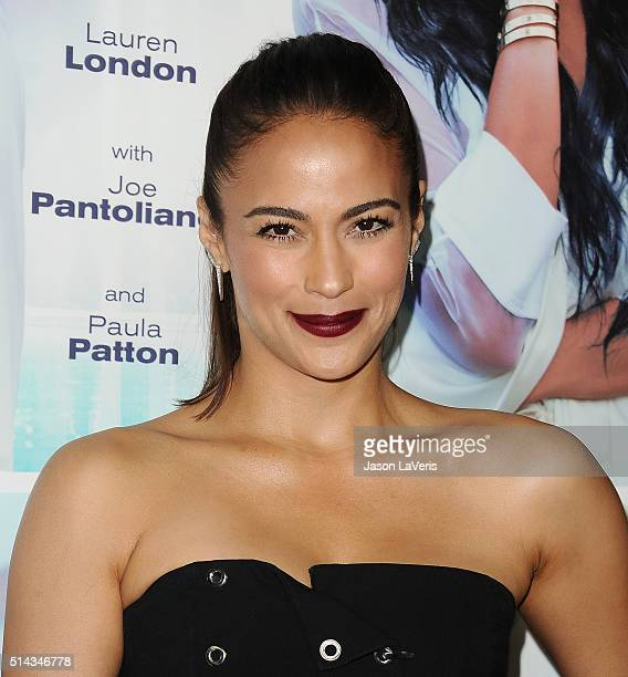 Actress Paula Patton attends the premiere of 'The Perfect Match' at ArcLight Hollywood on March 7 2016 in Hollywood California