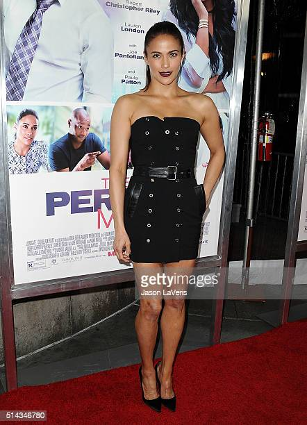 Actress Paula Patton attends the premiere of The Perfect Match at ArcLight Hollywood on March 7 2016 in Hollywood California