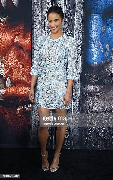 Actress Paula Patton attends the premiere of Universal Pictures' 'Warcraft at TCL Chinese Theatre IMAX on June 6 2016 at TCL Chinese Theatre IMAX on...
