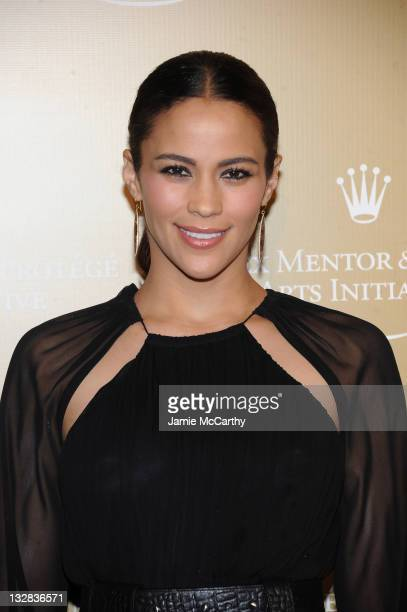 Actress Paula Patton attends the Rolex Mentor & Protege Arts Initiative at the David H. Koch Theater, Lincoln Center on November 14, 2011 in New York...