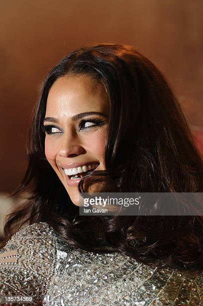 Actress Paula Patton attends the UK premiere of 'Mission Impossible Ghost Protocol' at BFI IMAX on December 13 2011 in London England