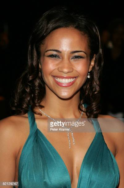 Actress Paula Patton attends the world premiere of Hitch on Ellis Island on February 3 2005 in New York City