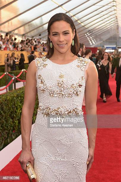 Actress Paula Patton attends TNT's 21st Annual Screen Actors Guild Awards at The Shrine Auditorium on January 25 2015 in Los Angeles California...