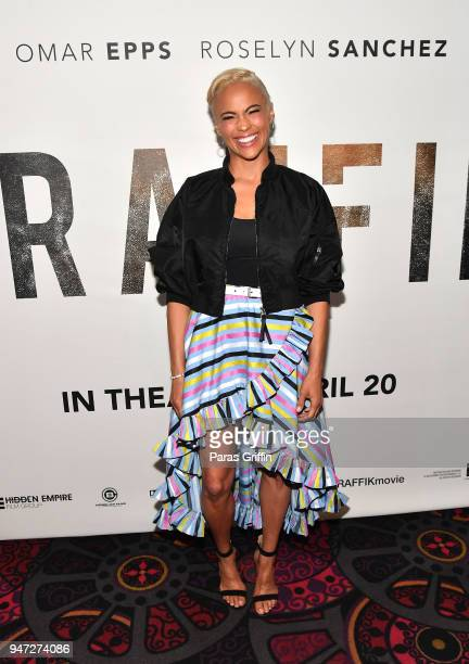 Actress Paula Patton attends Traffik Atlanta VIP Screening at Regal Atlantic Station on April 16 2018 in Atlanta Georgia