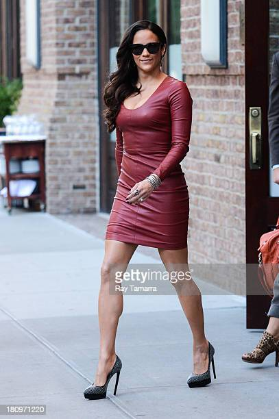 Actress Paula Patton leaves her Tribeca hotel on September 18 2013 in New York City