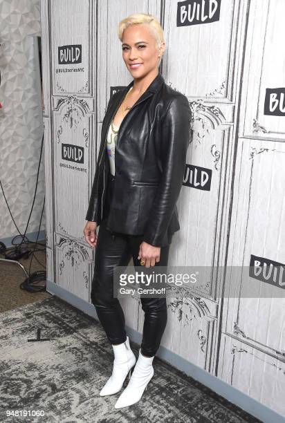 Actress Paula Patton visits Build Series to discuss the film 'Traffik' at Build Studio on April 18 2018 in New York City