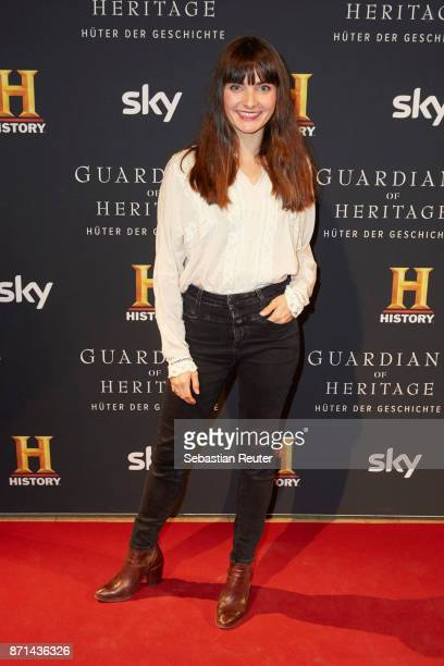 Actress Paula Schramm attends the preview screening of the new documentary 'Guardians of Heritage Hueter der Geschichte' by German TV channel HISTORY...