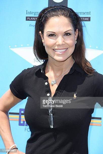 Actress Paula Trickey attends the 2011 SAG Foundation golf classic benefiting catastrophic health fund held at the El Caballero country club on June...