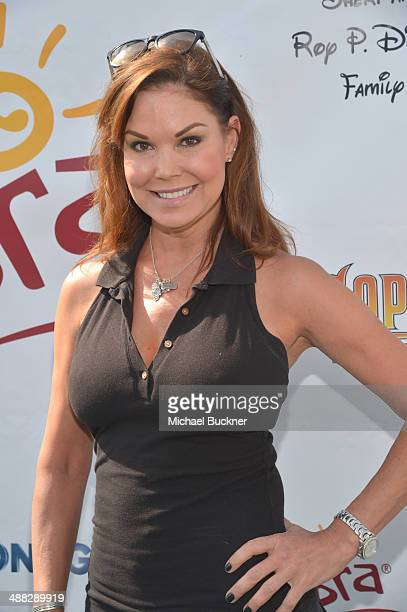 Actress Paula Trickey attends the 7th annual George Lopez Celebrity Golf Classic presented by Sabra Salsa at Lakeside Golf Club on May 5 2014 in...