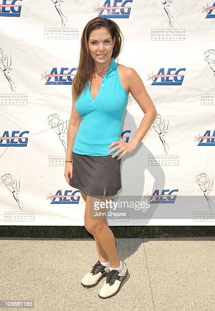 Actress Paula Trickey attends the TV Academy Foundation's 10th Annual Celebrity Golf Tournament at Lakeside Golf Club on August 31 2009 in Burbank...