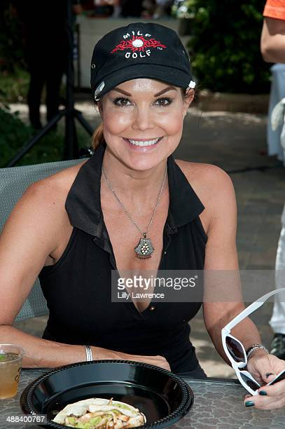 Actress Paula Trickey stops for lunch at the 7th Annual George Lopez Celebrity Golf Classic Presented by Sabra Salsa at Lakeside Golf Club on May 5...