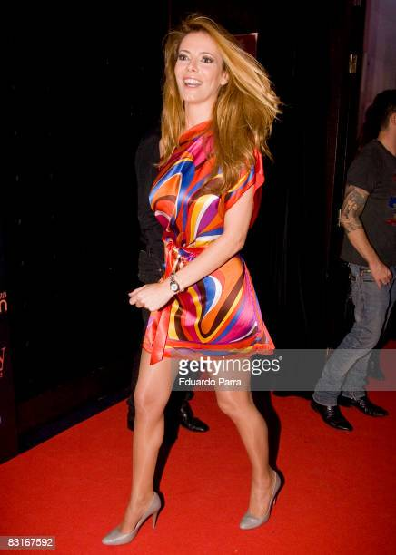 Actress Paula Vazquez attends the photocall of the 'Shangay' film on October 7 2008 in Madrid Spain
