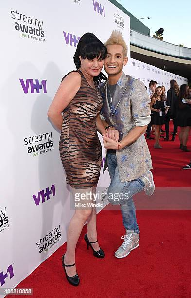 Actress Pauley Perrette and internet personality Frankie J Grande attend VH1's 5th Annual Streamy Awards at the Hollywood Palladium on Thursday...