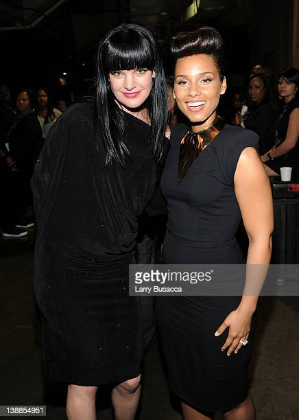Actress Pauley Perrette and singer Alicia Keys in the audience at the 54th Annual GRAMMY Awards held at Staples Center on February 12 2012 in Los...
