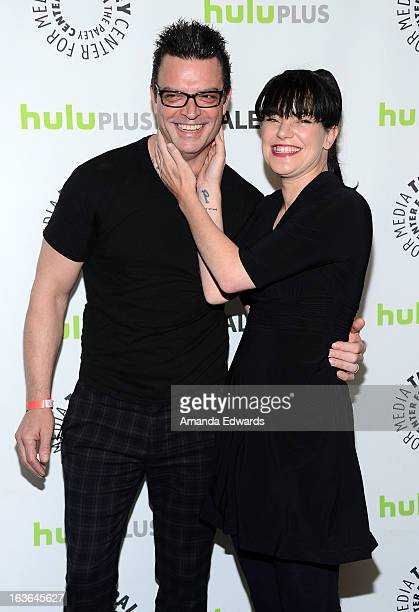 Actress Pauley Perrette and Thomas Arklie arrive at the 30th Annual PaleyFest The William S Paley Television Festival featuring 'The Big Bang Theory'...