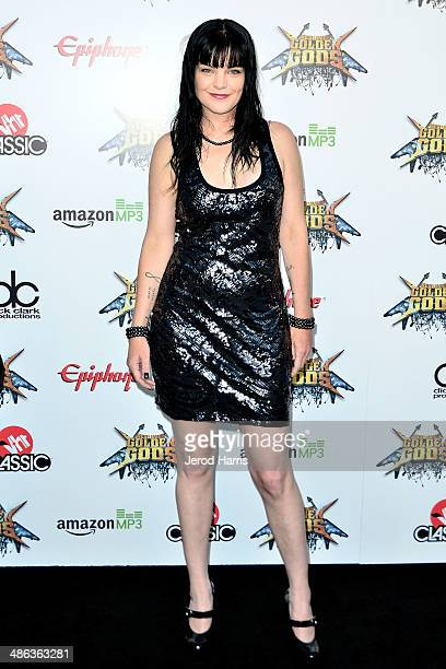 Actress Pauley Perrette arrives at the 2014 Revolver Golden Gods Awards at Club Nokia on April 23 2014 in Los Angeles California