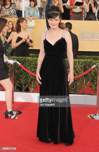 Actress Pauley Perrette arrives at the 20th Annual Screen Actors Guild Awards at The Shrine Auditorium on January 18 2014 in Los Angeles California