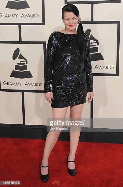 Actress Pauley Perrette arrives at the 57th GRAMMY Awards at Staples Center on February 8 2015 in Los Angeles California