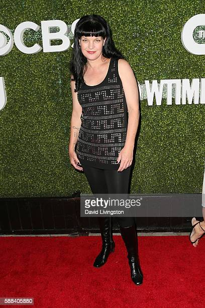 Actress Pauley Perrette arrives at the CBS CW Showtime Summer TCA Party at the Pacific Design Center on August 10 2016 in West Hollywood California