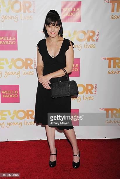 Actress Pauley Perrette arrives at TrevorLIVE Los Angeles at Hollywood Palladium on December 7 2014 in Los Angeles California