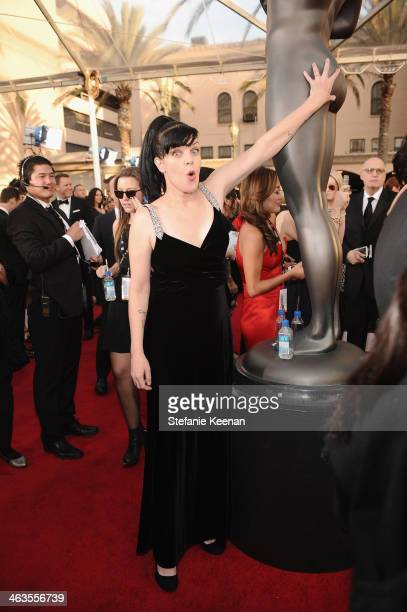 Actress Pauley Perrette attends 20th Annual Screen Actors Guild Awards at The Shrine Auditorium on January 18 2014 in Los Angeles California