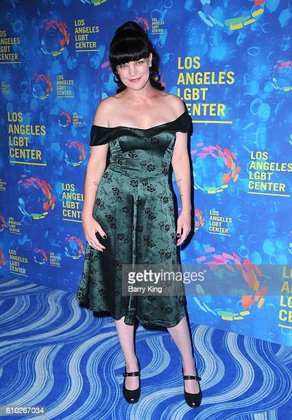 Actress Pauley Perrette attends Los Angeles LGBT Center's 47th Anniversary Gala at Pacific Design Center on September 24 2016 in West Hollywood...